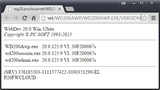 Show Serial Number of WEBDEV APP SERVER